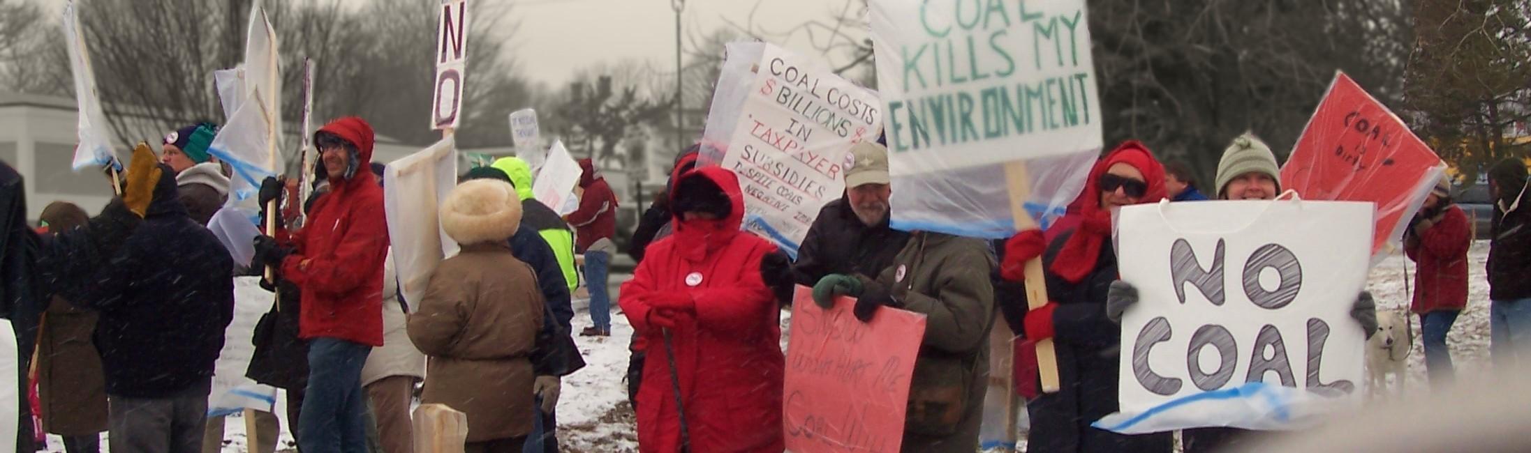 somerset coal demonstrators